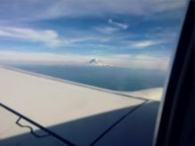 The scenery outside the plane on my way to Seattle.