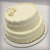 Buttercream frosted Sponge Cake